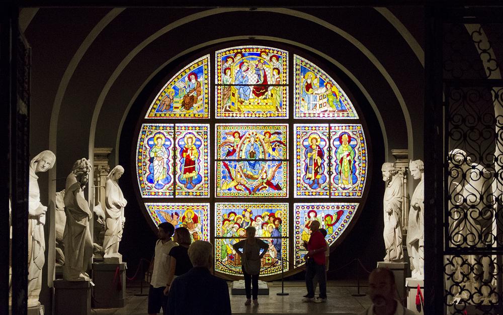 Siena, Museo dell'Opera del Duomo, Buntglasfenster, Marienleben