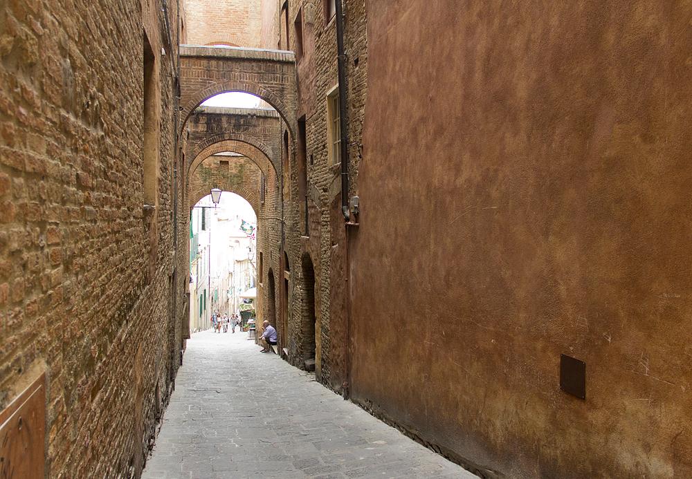 Siena, Historische Altstadt, Gasse