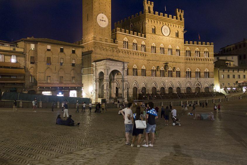 Siena, Piazza del Campo at Night