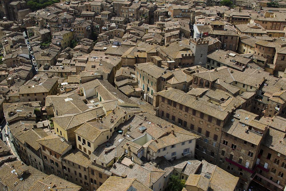 Siena, Blick vom Torre del Mangia