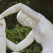 Barcelona, Parc de Montjuïc,Skulptur Estival von Jaume Otero im Jardines de Laribal