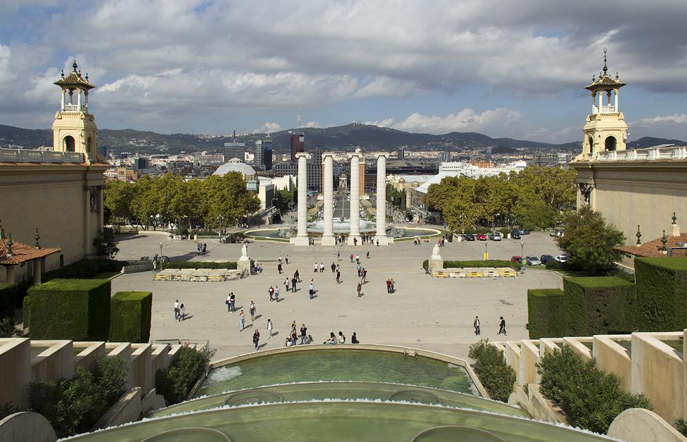 Barcelona,  Montjuïc, Quatre Columnes