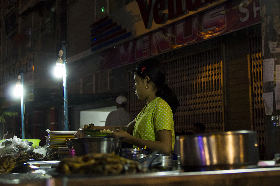 Yangon, Street Food, Anawrahta Road