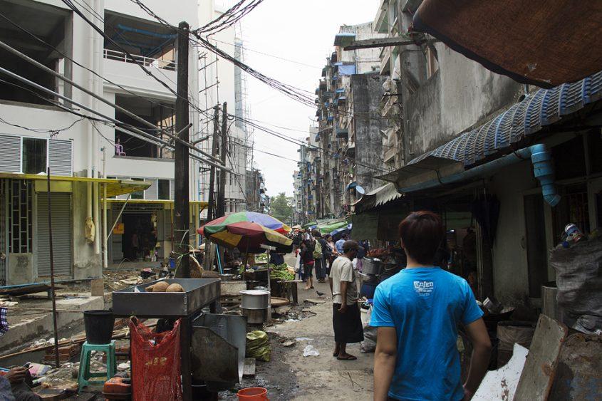 Yangon, Nähe Bogyoke Aung San Road
