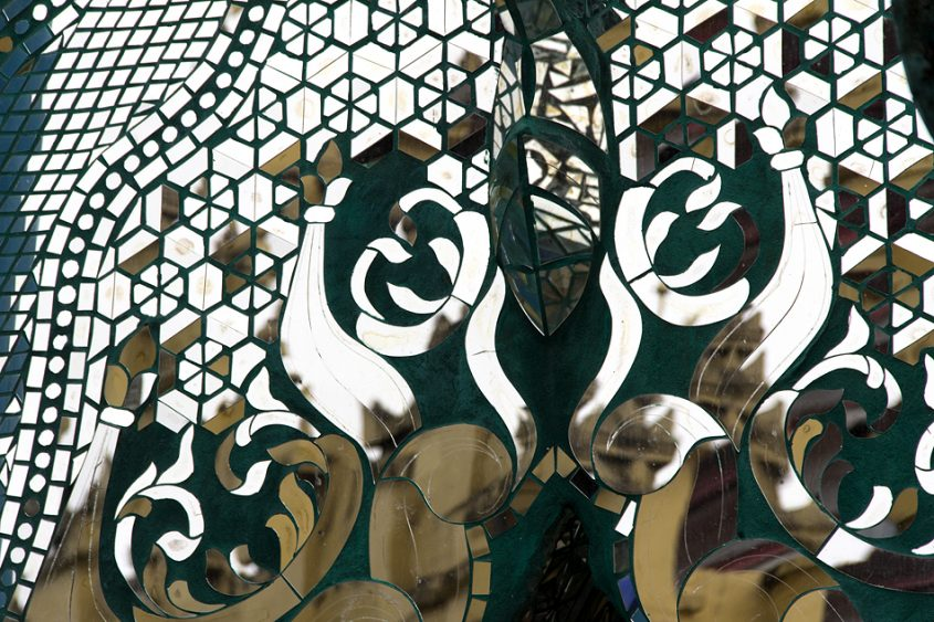 Sein-Yaung-Chi-Pagode, Glas Mosaik