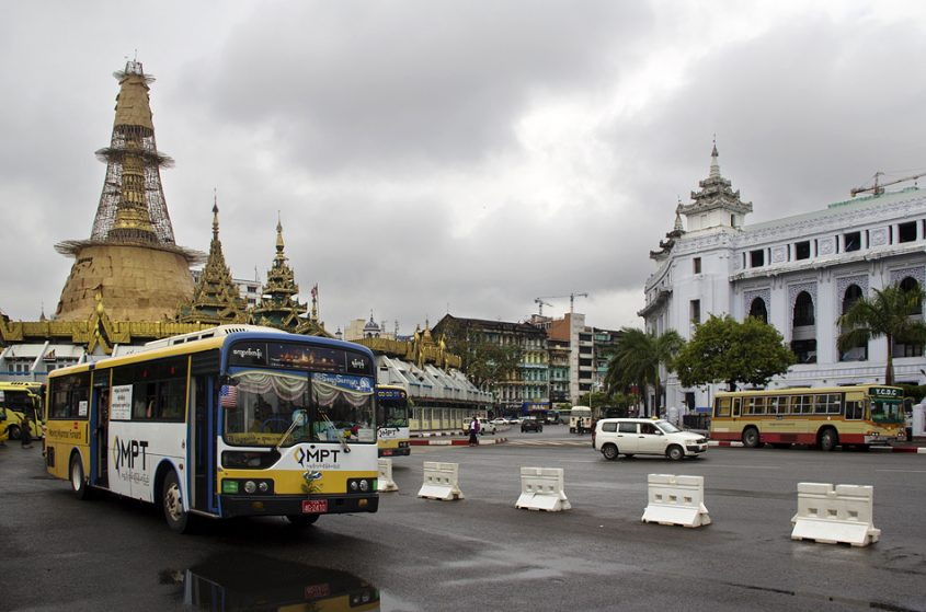 Yangon, Sule-Pagode und City Hall