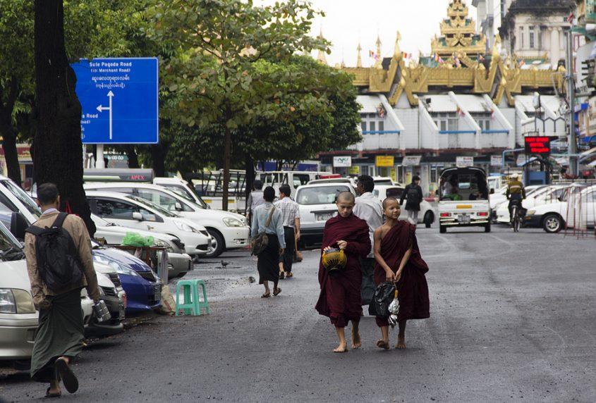 Yangon, Sule Pagoda Road