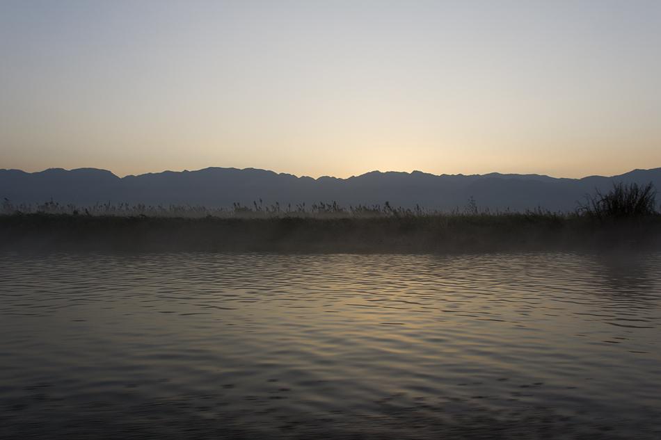 Myanmar, Inle-See, Nebel