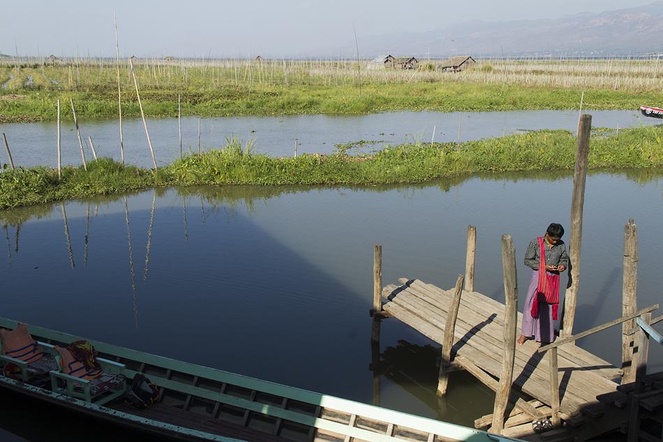 Myanmar, Inle-See, Schwimmende Gärten