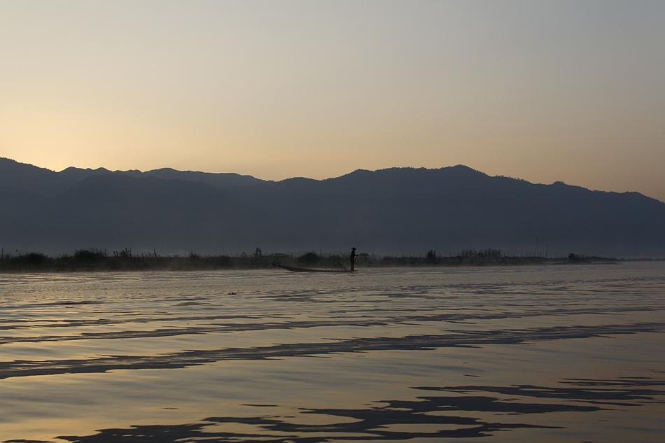 Myanmar, Inle-See, Morgendämmerung