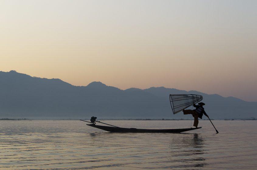 Myanmar, Inle-See, Fischer