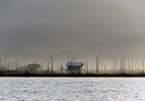 Myanmar, Inle-See, Pfahlbauten