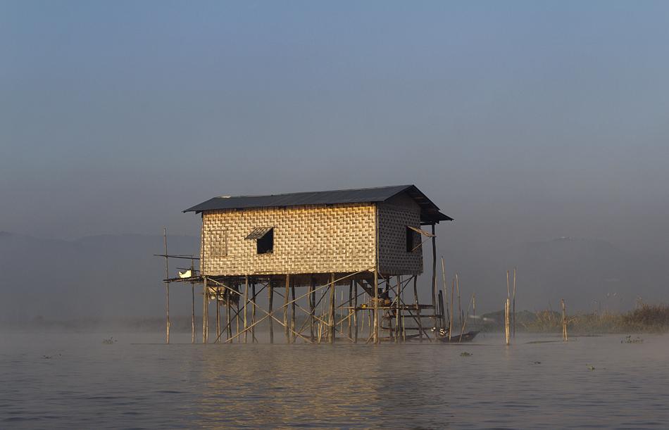 Myanmar, Inle-See, Pfahlhaus