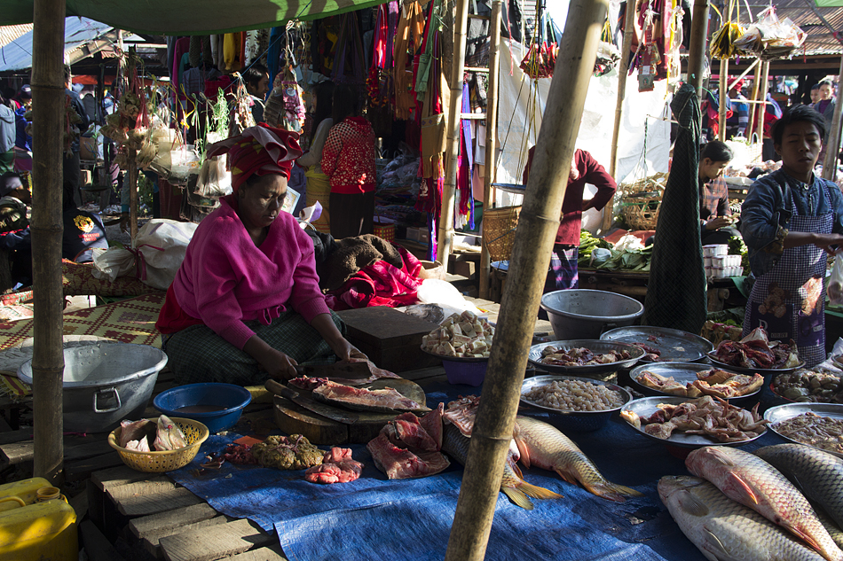 Myanmar, Inle-See, Fischmarkt