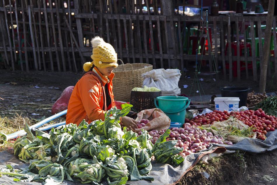 Myanmar, Inle-See, Markt in Kyauk Taung
