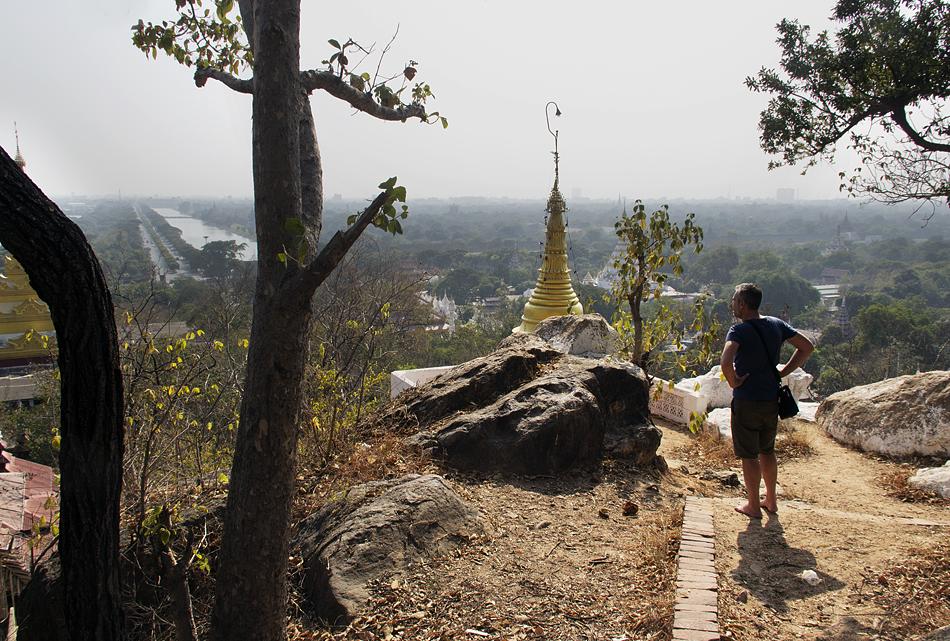 Mandalay, Blick vom Mandalay Hill Zum Palastgelände