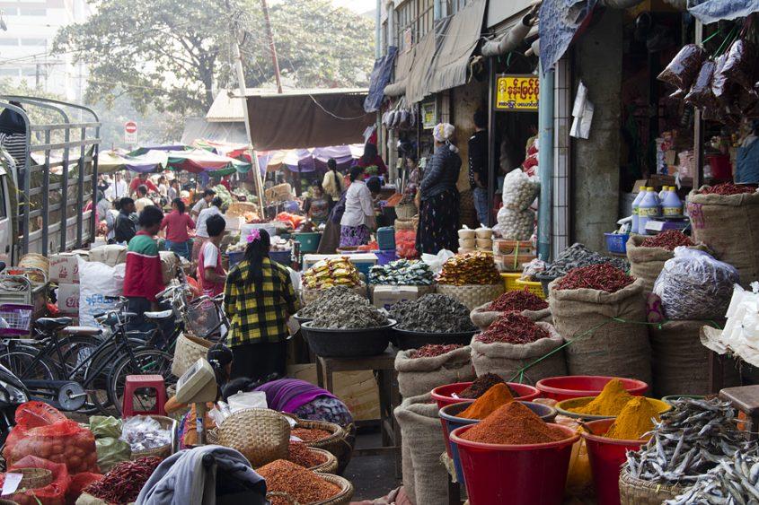 Mandalay, Zeigyo, Zentralmarkt 26th Road