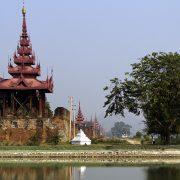 Mandalay, Palastmauer und Wachturm