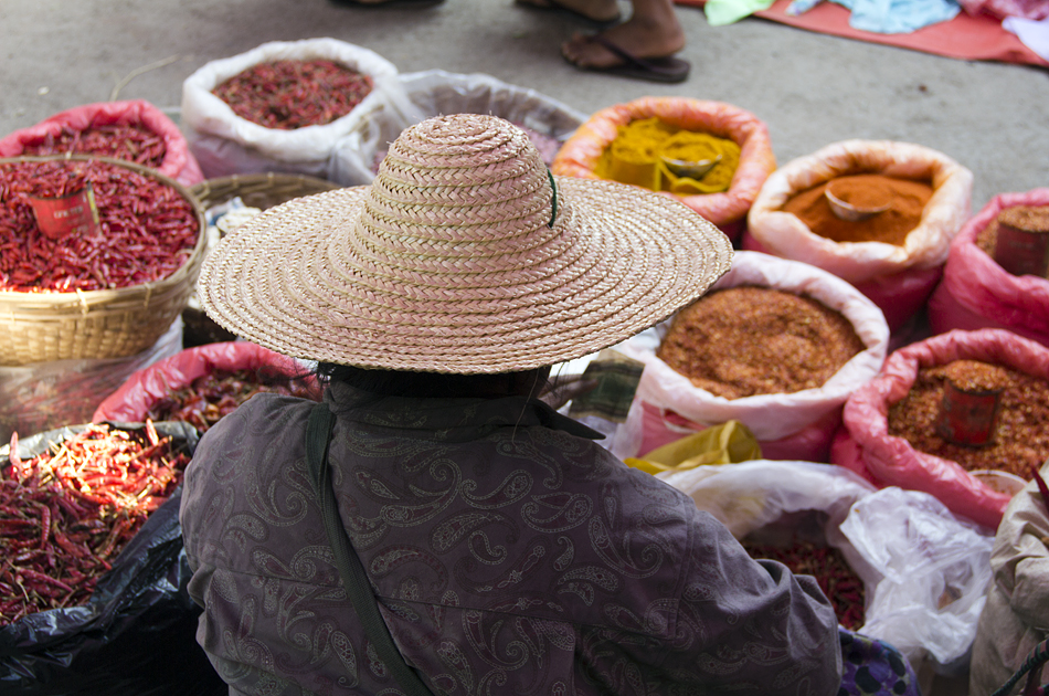 Myanmar, Nyaung Shwe, Markt, Gewürze