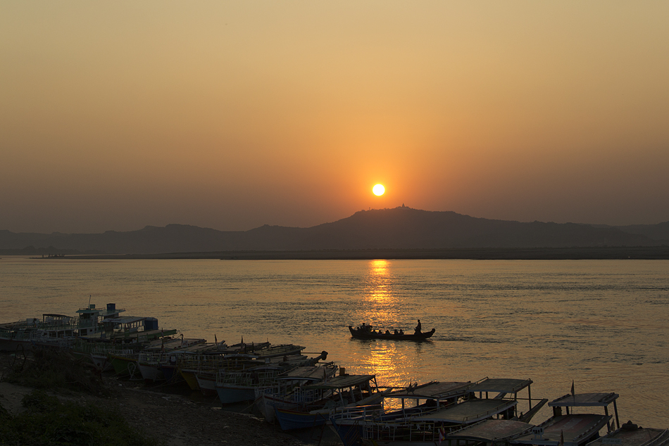 Bagan, Sonnenuntergang