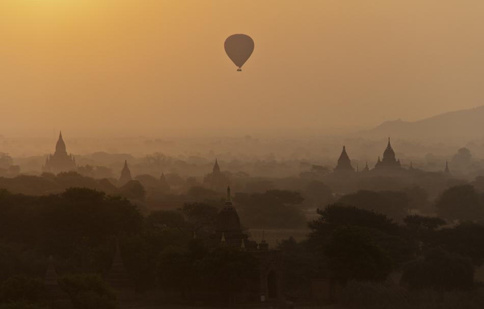 Bagan, Blick vom Shwesandaw-Tempel