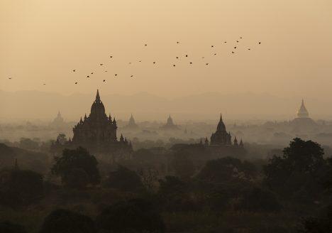 Bagan, Kutha, MOrgendämmerung