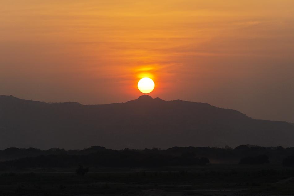 Bagan, Ayeyarwady, Sonnenuntergang
