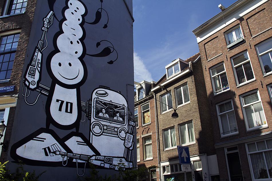 Amsterdam, Prinsengracht, Mural