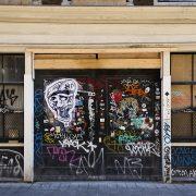 Amsterdam, Warmoesstraat, Streetart