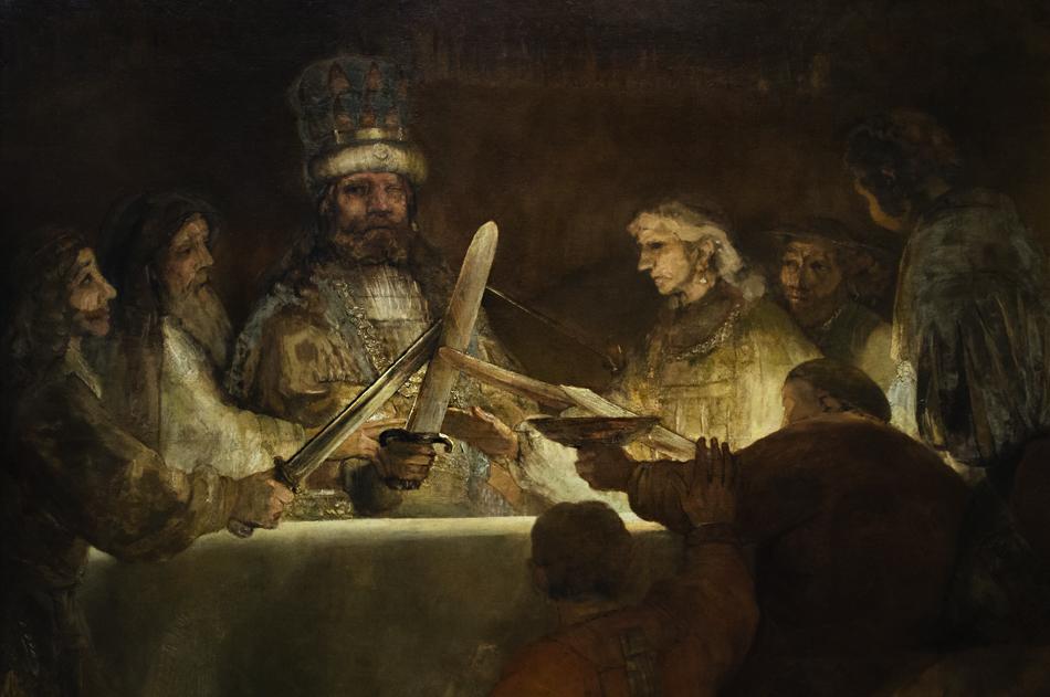 Amsterdam, Rijksmuseum, Rembrandt, Die Verschwörung des Claudius Civilis