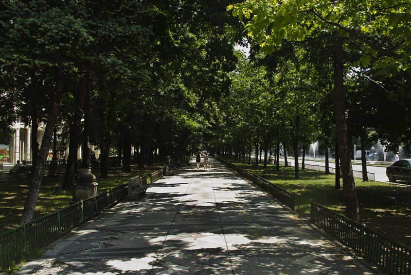 Bukarest, Bulevardul Unirii, Gehweg