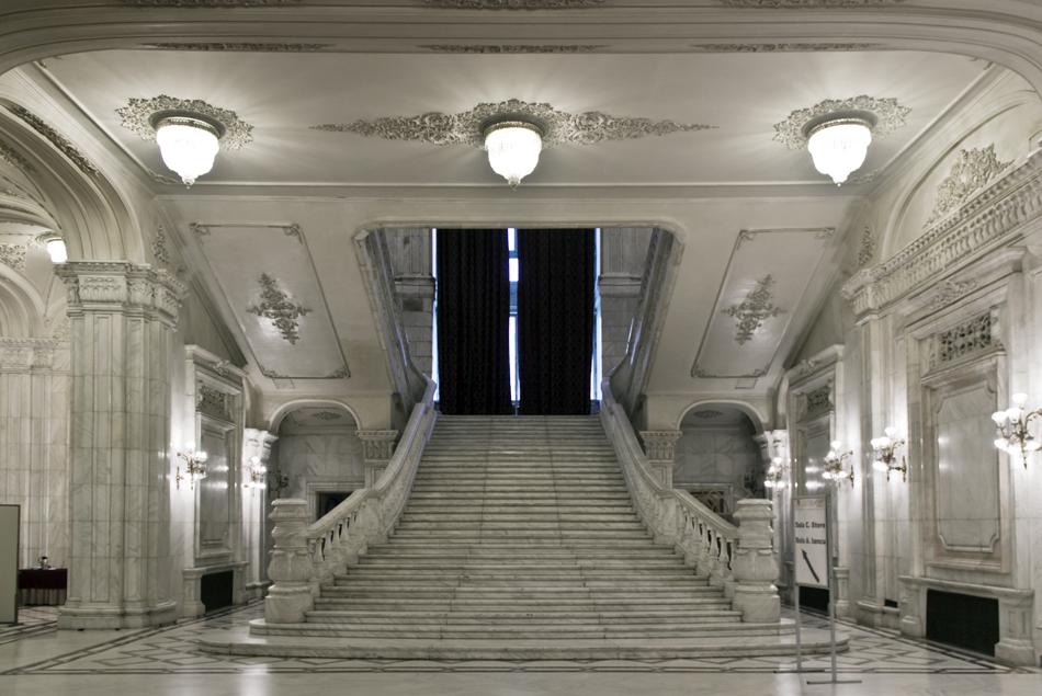 București, Palatul Parlamentului, Interior, Starcase, Floor P