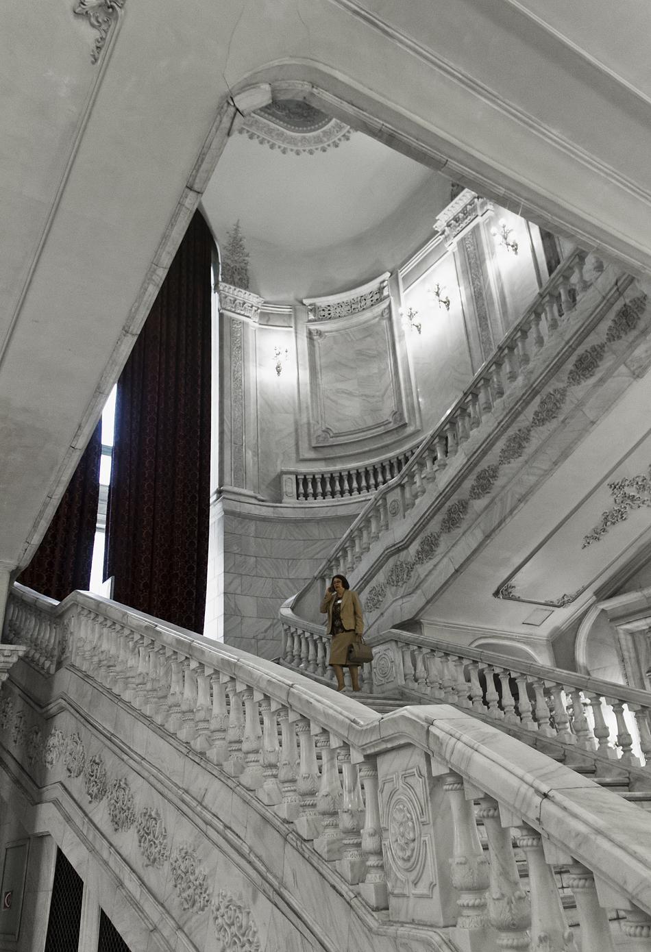 București, Palatul Parlamentului, Interior, Staircase