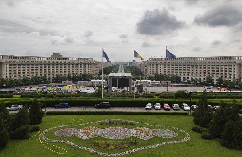 București, Palatul Parlamentului, Balkon, Bpulevard Unirii
