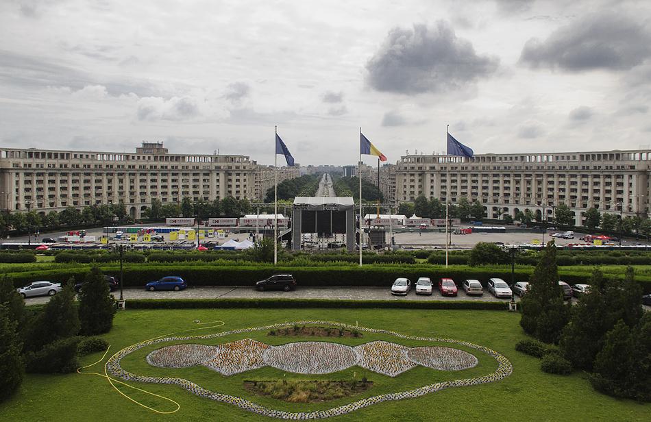 București, Palatul Parlamentului, Balkon, Boulevard Unirii