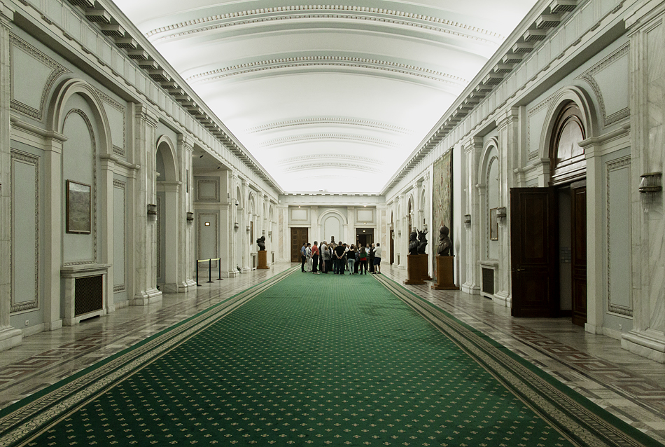 București, Palatul Parlamentului, Interior, Korridor (Geschoss S1)