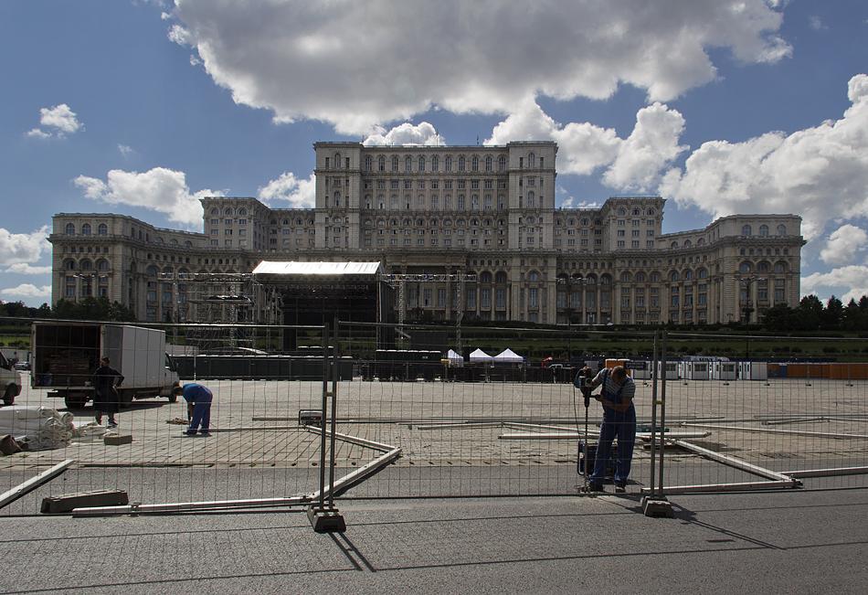 București, Palatul Parlamentului, Interior, East Facade