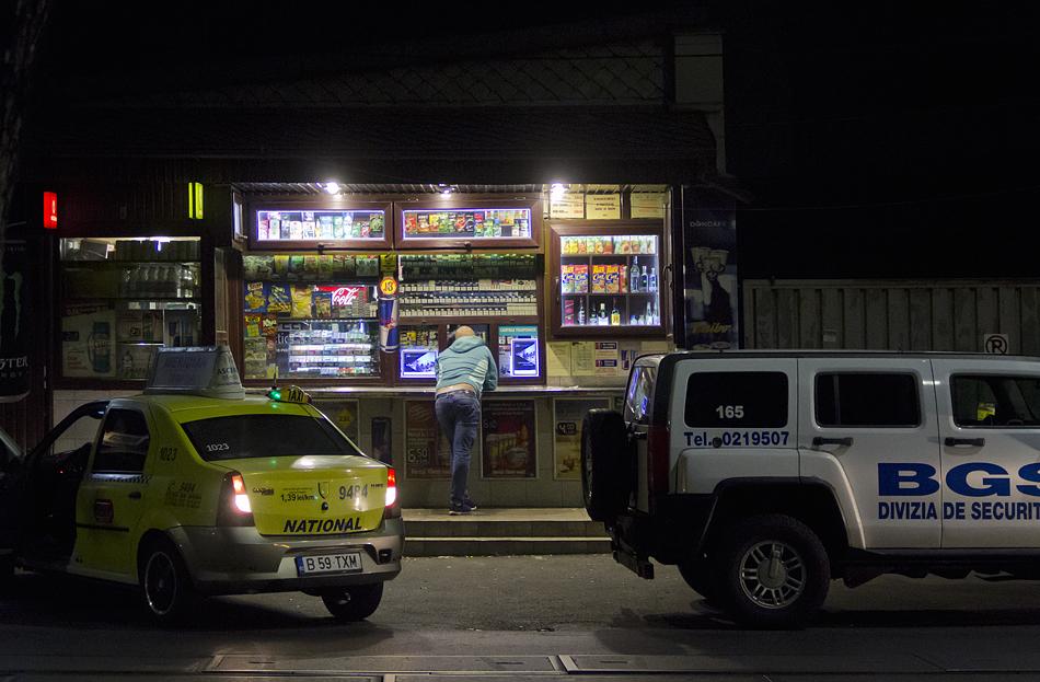 Bukarest, Nacht, Strada Gramont, Kiosk