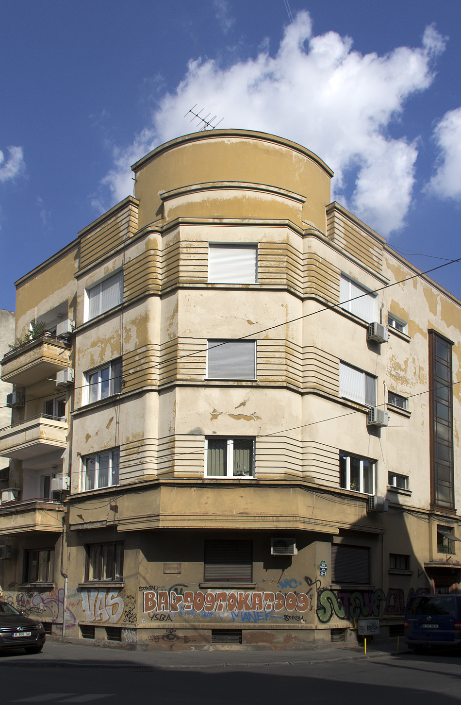 Bukarest, Buiilding at Nähe Piața Romana