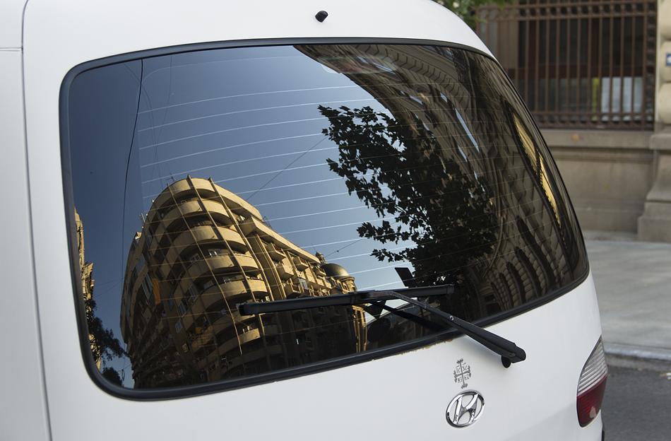 Bukarest, Auto, Spiegelung, Strada Ion Ghica