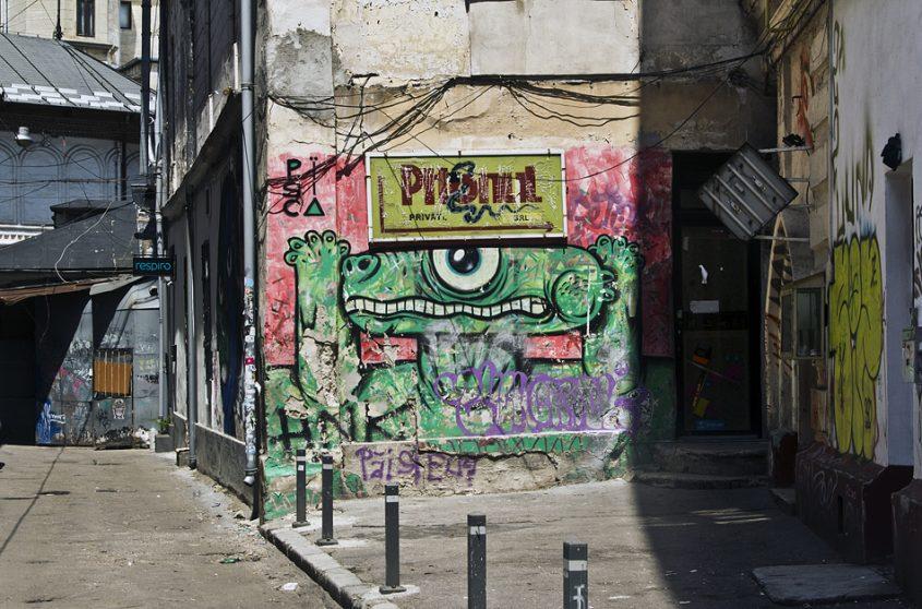 Bukarest, Graffiti, Strada Academiei