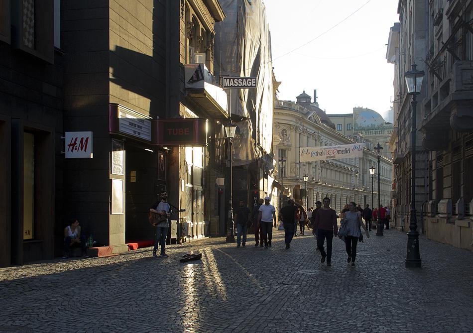 Bukarest, Abend, Strada Lipscani
