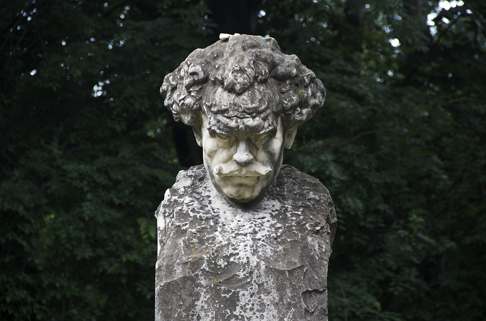 Bukarest, Büste Barbu Delavrancea im Parcul Kiseleff
