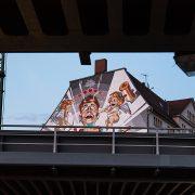 Halle Saale, Delitzscher Straße, Wandbild