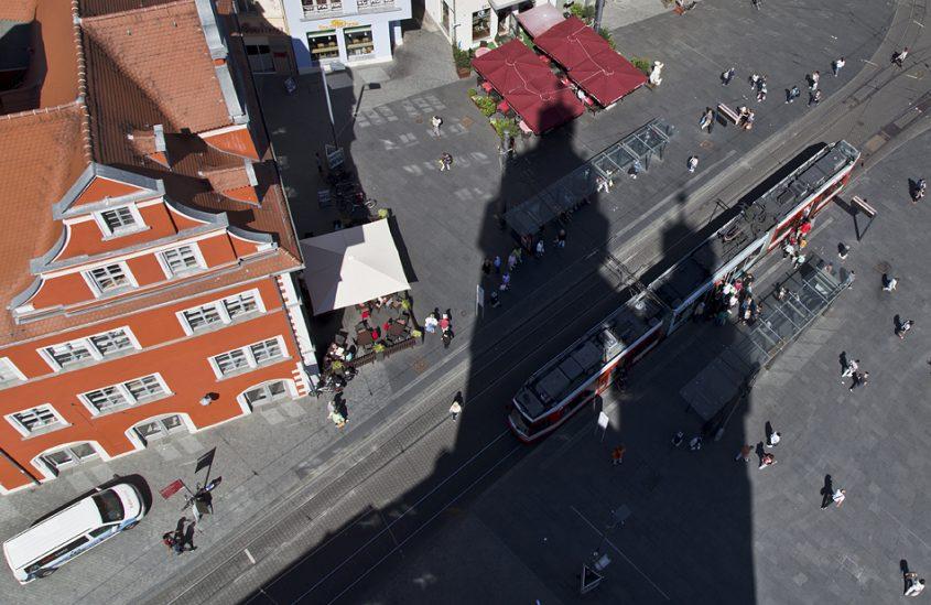 Halle Saale, Blick von einem der Osttürme der Marktkirche Unser Lieben Frauen