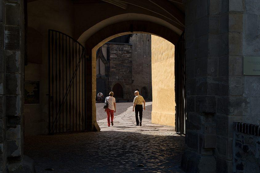 Halle, Eingang zum Innenhof der Moritzburg