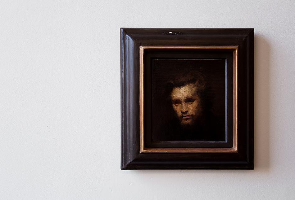 Halle Saale, Kunstmuseum Moritzburg, Wilheim Leibl, Jugendbildnis des Malers Johann Sperl
