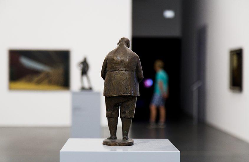 Halle Saale, Kunstmuseum Moritzburg, Waldemar Grizimek, Lesender Arbeiter