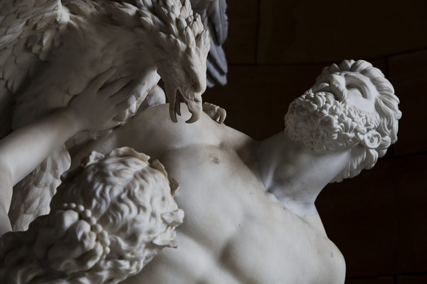 Berlin, Museumsinsel, Alte Nationalgalerie, Eduard Müller, Prometheus und die Okeaniden