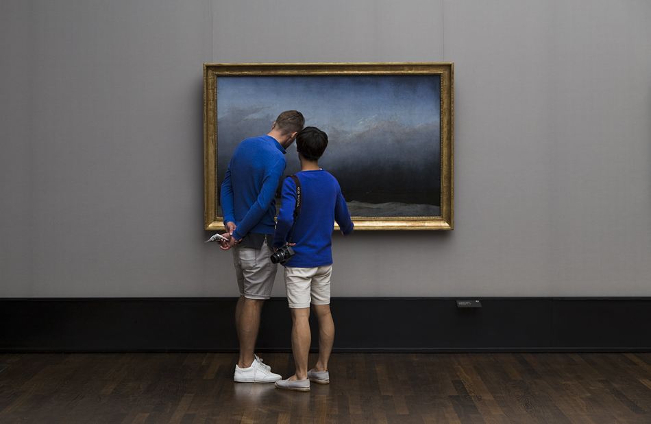 Fabian Fröhlich, Berlin, Museumsinsel, Alte Nationalgalerie, Der Mönch am meer